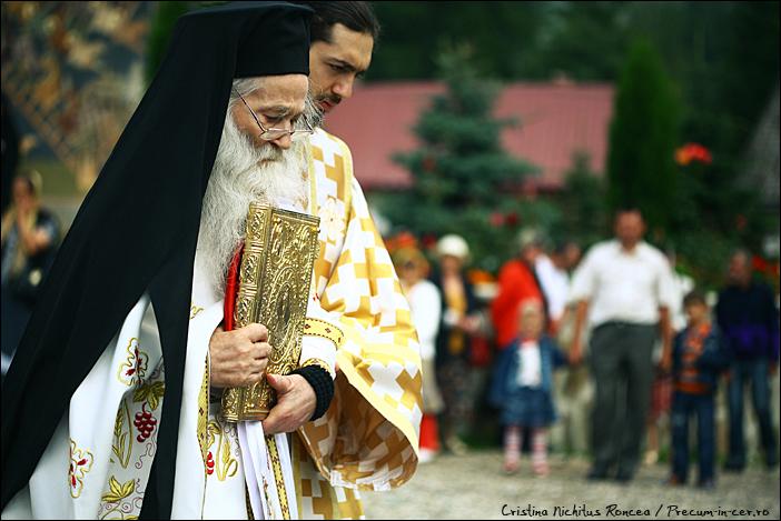 Parintele Justin Parvu la slujba de Sfanta Maria