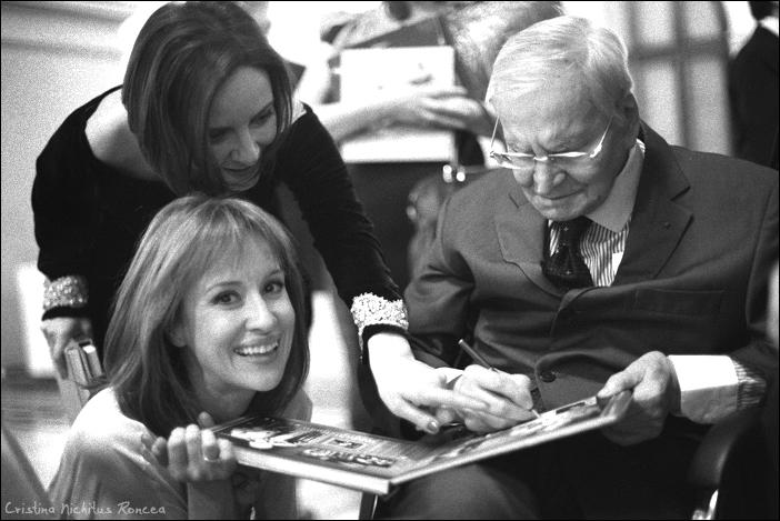 46 Radu Beligan cu Lamia si Medeea Marinescu -Aniversare 93 - 2011 - foto Cristina Nichitus Roncea