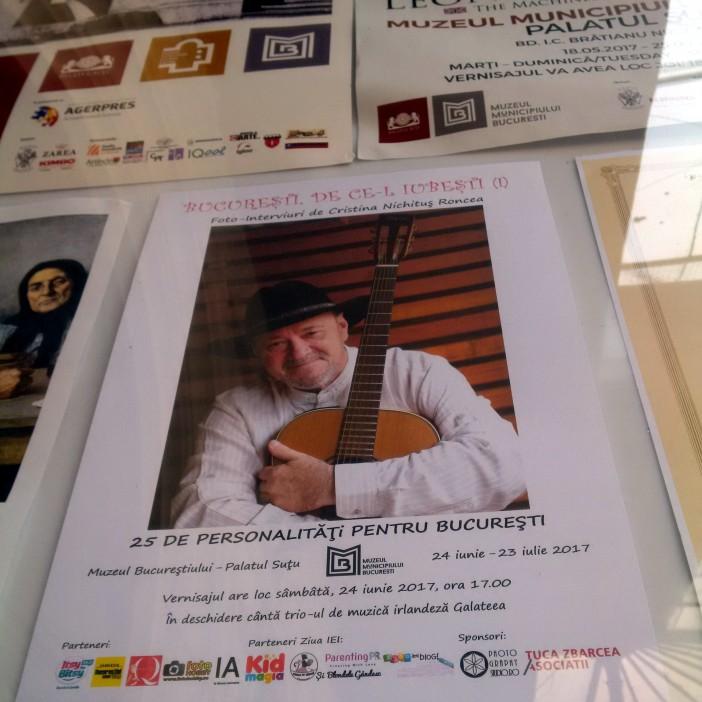 15 Expozitia Bucuresti, de ce il iubesti - vernisaj Cristina Nichitus Roncea - Palatul Sutu - 24 iunie 2017 - Afis Nicu Alifantis