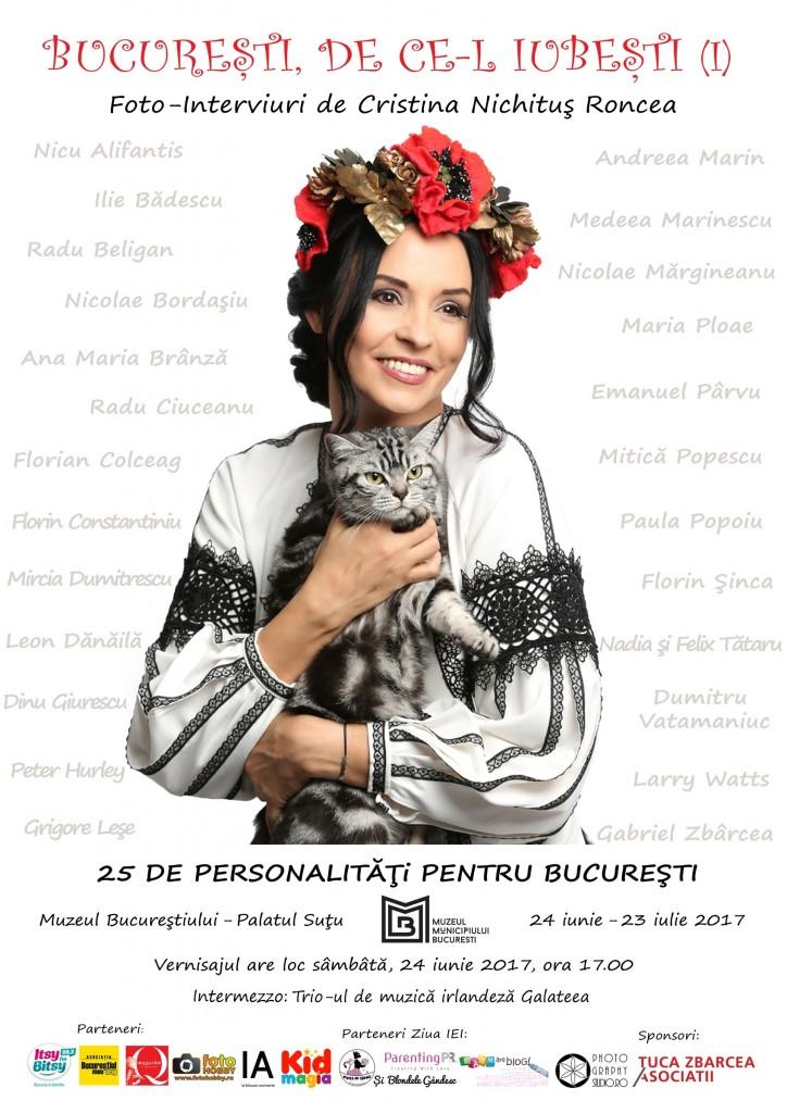 Expozitia Bucuresti, de ce-l iubesti Cristina Nichitus Roncea - Palatul Sutu 2017